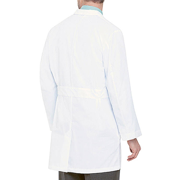 Landau Men's Lab Coat - 65% Poly/35% Cotton Micro Sanded Twill
