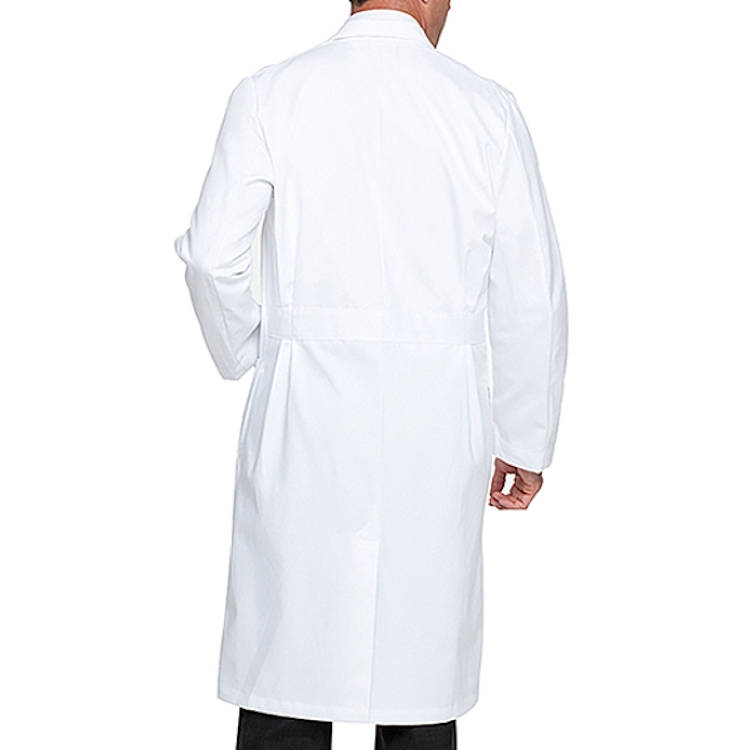 Landau Men's Lab Coat - 100% Super Cotton Twill 5 Cloth Knot Buttons
