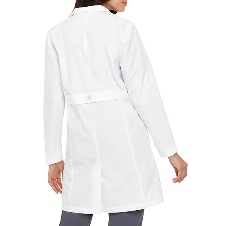 Landau Women's Lab Coat - 4 Button Belt Style