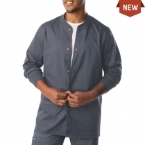 Landau Men's ProFlex Snap Front Warmup With Knit Collar And Cuffs