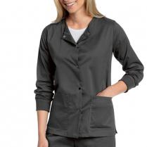 Landau Women's All Day Snap Front Warm-up Jacket