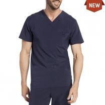 CLEARANCE Landau Men's Media Scrub V-Neck Top with Pocket