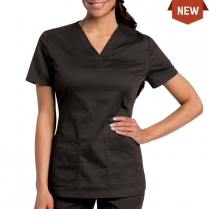 Landau Women's Modern All Day Y-Neck Scrub Tunic