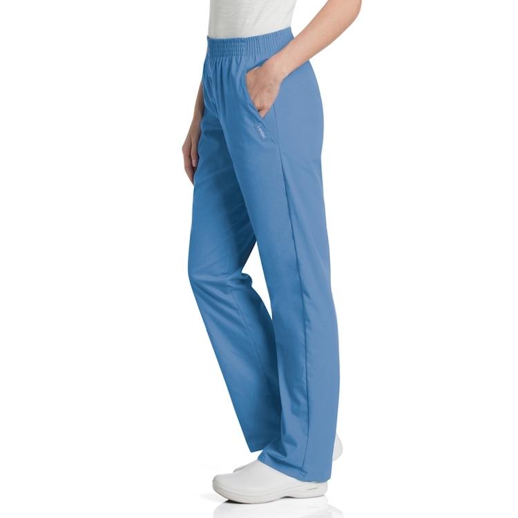 Landau Women's Classic Fit Poplin Relaxed Pant