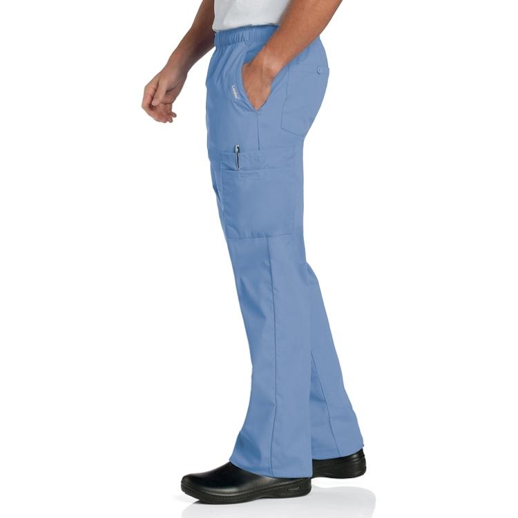 Landau Men's Poplin Stretch Waist Cargo Pant