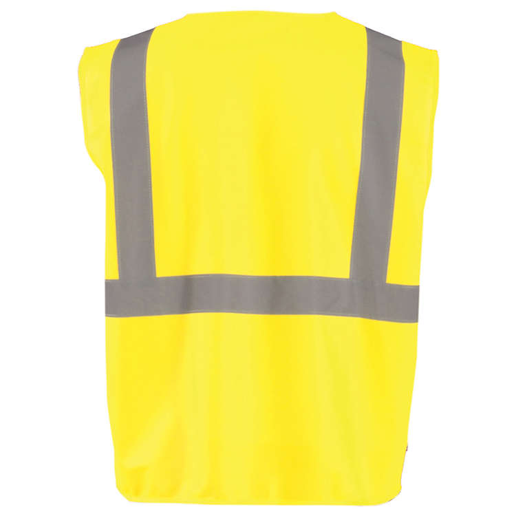 OccuNomix Value Solid Safety Vest with Zipper - Class 2