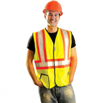 OccuNomix Premium Two-Tone Solid Safety Vest - Class 2