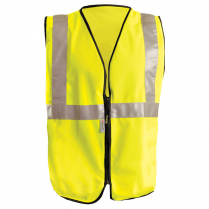 OccuNomix Premium Classic Solid Safety Vest with Zipper - Class 2