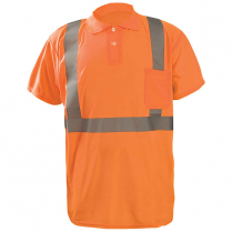 OccuNomix 3.8 oz. Short Sleeve Wicking Birdseye Polo Shirt with Pocket - Class 2