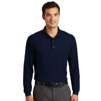 Port Authority® Silk Touch™ Long Sleeve Polo with Pocket