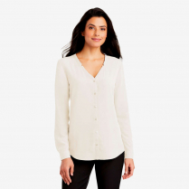 Port Authority ® Ladies' Long Sleeve Button Front Blouse