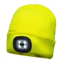 Portwest Rechargeable LED Head Light USB Beanie