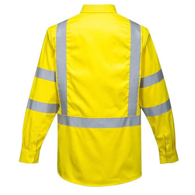 Portwest Hi-Vis Bizflame Long Sleeve Shirt 88/12