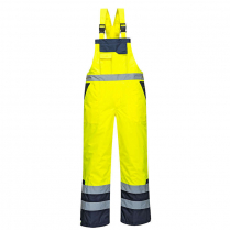 Portwest Contrast Bib and Brace - Lined