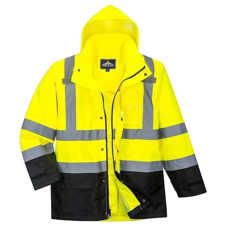 Portwest Hi-Vis Contrast Rain Jacket
