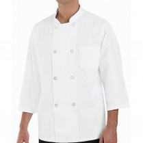 Chef Designs Eight Pearl Button 3/4 Sleeve Chef Coat