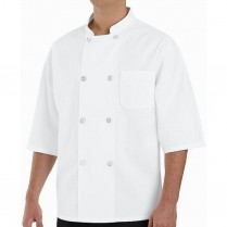 Chef Designs Eight Pearl Button 1/2 Sleeve Chef Coat