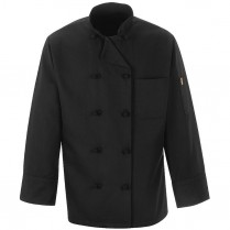 Chef Designs Ten Knot Button Black Chef Coat