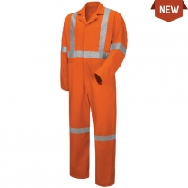 Red Kap Hi-Visibility Button-Front Coverall With CSA Compliant Reflective Trim
