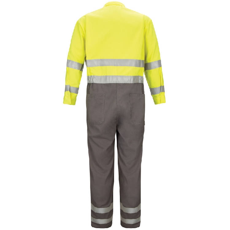 """Bulwark Deluxe Colorblocked Coverall With 2"""" Reflective Trim - Cooltouch 2 - 7 Oz."""