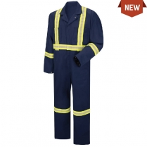 Red Kap Enhanced Visibility Zip Front Coverall