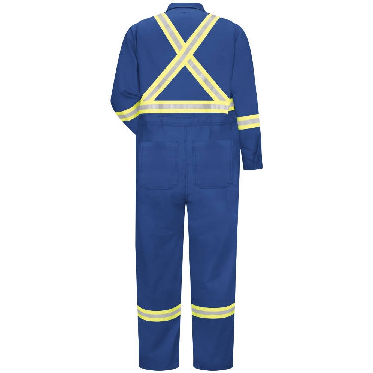 Bulwark Premium Coverall With CSA Compliant Reflective Trim, 7oz - Excel Fr Comfortouch