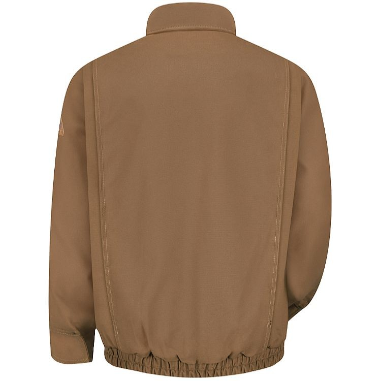 Bulwark FR Excel FR ComforTouch Brown Duck Lined Bomber Jacket HRC3