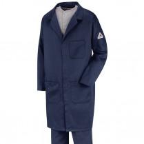 Bulwark FR Excel FR ComforTouch Concealed Snap Front Lab Coat 6 oz HRC2