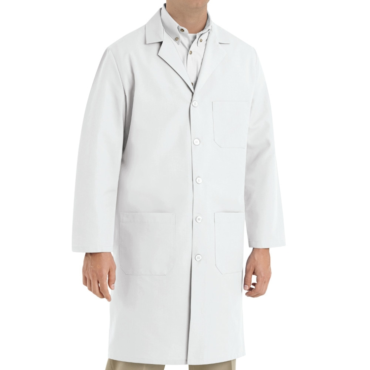 Red Kap Men's Lab Coat - Button Front