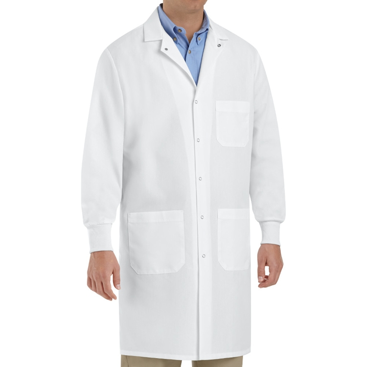 Red Kap Unisex Specialized Knit-Cuffed Lab Coat - Gripper Front
