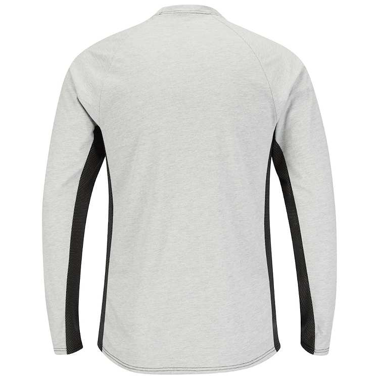 Bulwark Long Sleeve FR Two-Tone Base Layer with Concealed Chest Pocket- Excel FR HRC1
