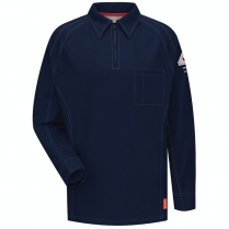 Bulwark iQ Series Long Sleeve Comfort Knit Polo HRC2