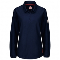 Bulwark IQ Series Women's Long Sleeve Polo With 4-Button Placket HRC2