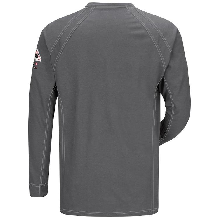 Bulwark iQ Series Long Sleeve Comfort Knit Henley HRC2
