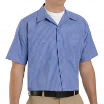 Red Kap Men's Industrial Stripe Short Sleeve Work Shirt