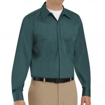 Red Kap Men's Wrinkle Resistant Cotton Long Sleeve Work Shirt
