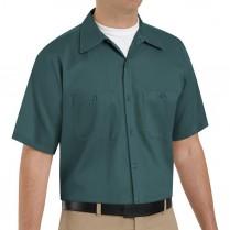 Red Kap Men's Wrinkle Resistant Cotton Short Sleeve Work Shirt