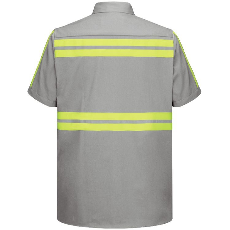 Red Kap Enhanced Visibility Short Sleeve Cotton Work Shirt