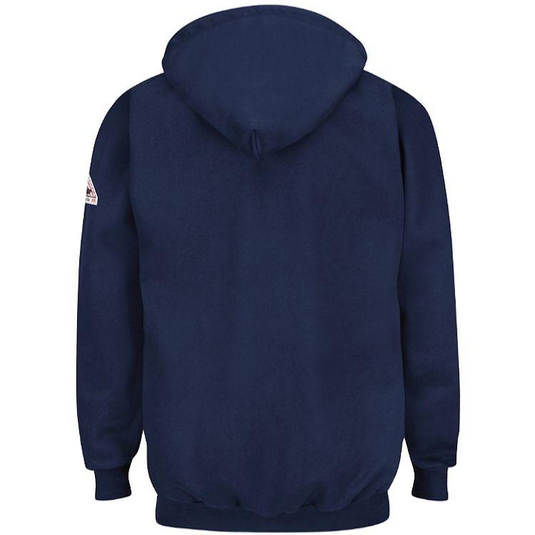 Bulwark FR Cotton/Spandex Blend 1/4 Zip Front Hooded Sweatshirt HRC2