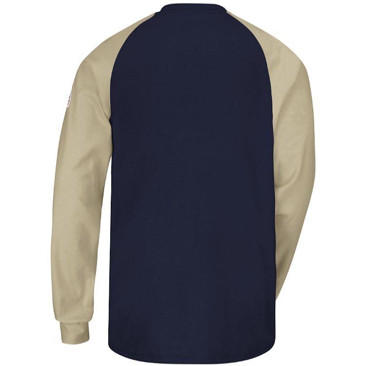 Bulwark FR Excel FR Long Slv Color-Block Tagless Henley - 6.25 oz HRC2