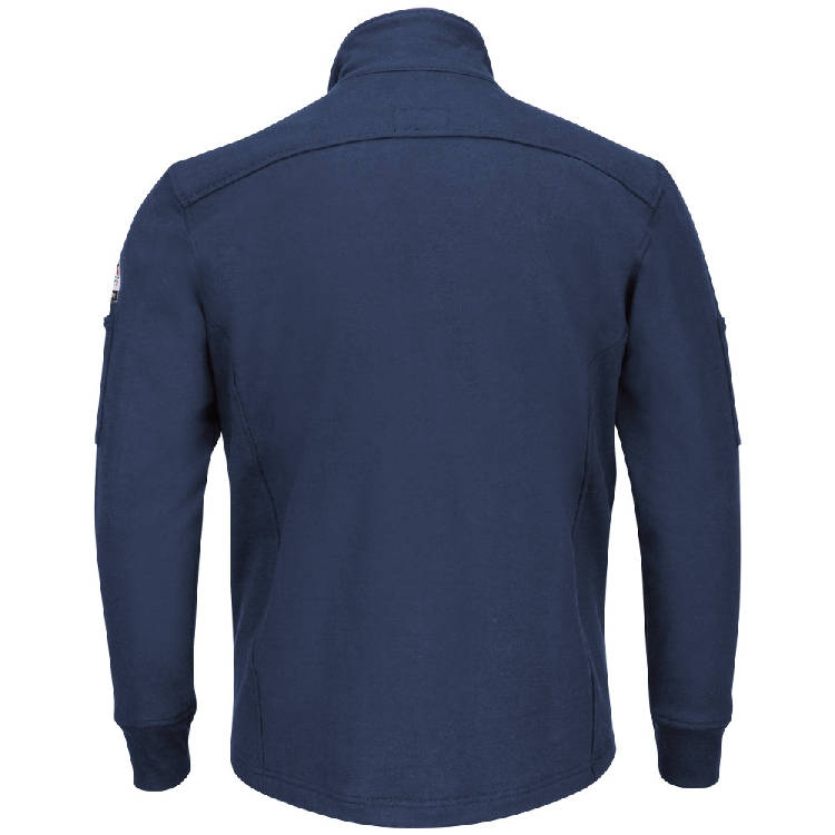 Bulwark Male Zip Front Fleece Jacket-Cotton/Spandex Blend