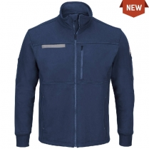 Bulwark Male Zip Front Fleece Jacket-Cotton/Spandex Blend