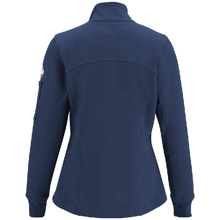 Bulwark Female Zip Front Fleece Jacket-Cotton/Spandex Blend