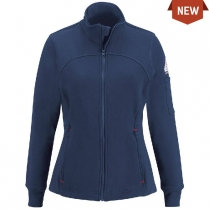 Bulwark Female Zip Front Fleece Jacket-Cotton/Spandex Blend