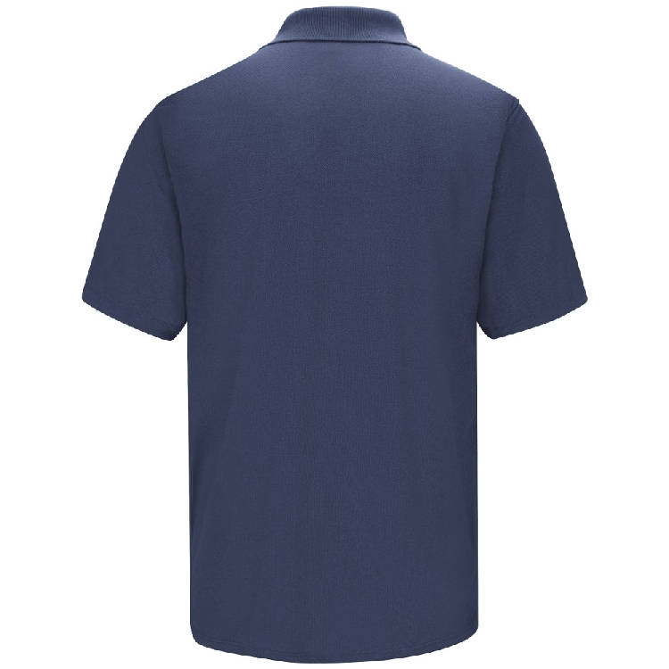 Red Kap Men's Short Sleeve Spun Polyester Gripper Front Polo