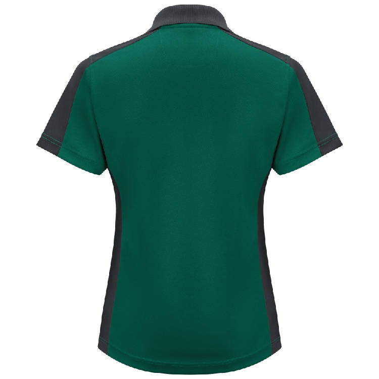 Red Kap Women's Short Sleeve Performance Knit Two-Tone Polo