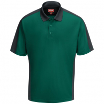 Red Kap Men's Short Sleeve Performance Knit Two-Tone Polo