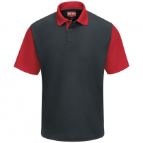 Red Kap Men's Short Sleeve Performance Knit Color-Block Polo