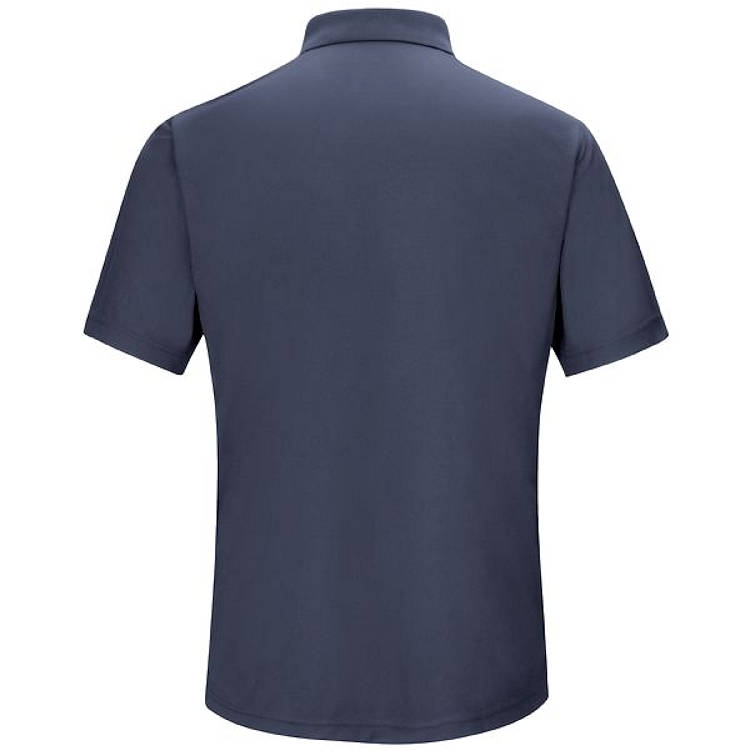 Red Kap Men's Performance Polyester Gripper-Front Knit Polo
