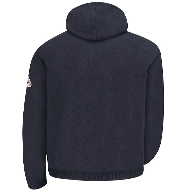 Bulwark FR Modacrylic Fleece Zip Front Hooded Sweatshirt - 8 oz. HRC2